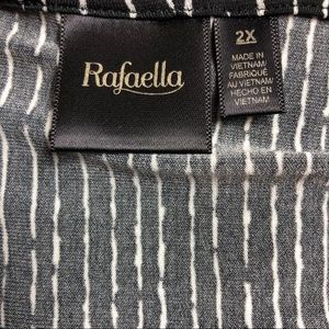 Rafaella Tops - ☀️Rafaella black & white striped top 2xl☀️
